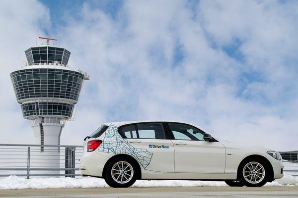 DriveNow nun auch am Münchner Flughafen verfügbar