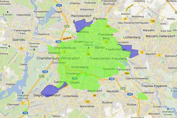 DriveNow erweitert sein Geschäftsgebiet in Berlin