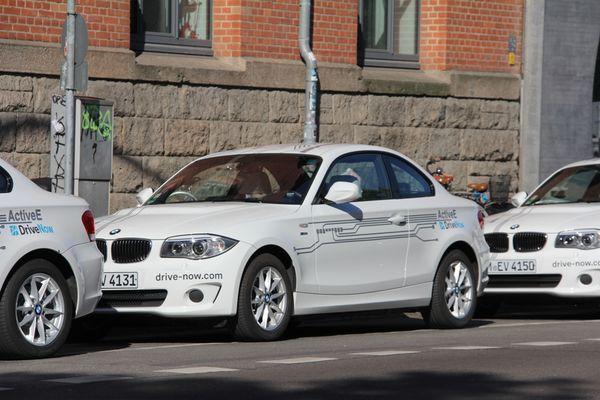BMW ActiveE Elektrofahrzeuge von DriveNow