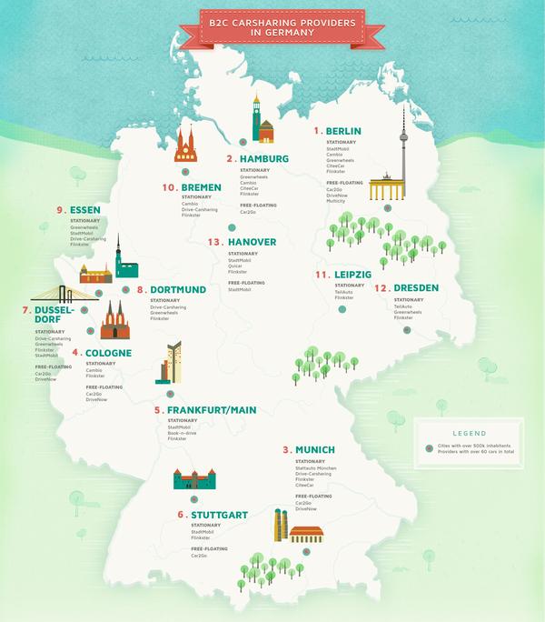 Carsharing-Anbieter in Deutschland