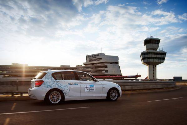 DriveNow erweitert sein Angebot am Flughafen Tegel