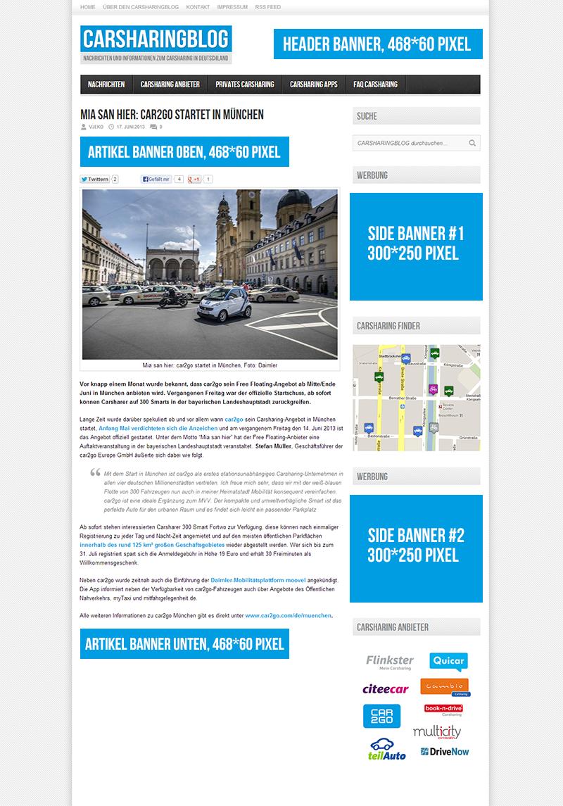 Hier werben - Carsharing Blog