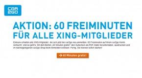car2go verschenkt 60 Freiminuten für Xing-Mitglieder