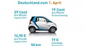 Auch car2go ändert seine Tarifstruktur