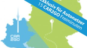 Vorteile für Autonetzer-Nutzer bei car2go
