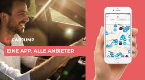 Carjump bietet Anmeldung über mehrere Anbieter